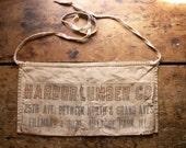 Vintage Lumber Company Work Apron - Harbor Lumber Company, Melrose Park, Illinois