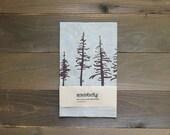 Tea Towel, Linen Dish Towel, Spruce Pine Evergreen Design, Screen Printed Kitchen Towel