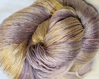 Pure silk hand dyed yarn