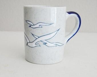 Vintage 80s Seagulls Mug Coffee Cup