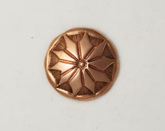 """3/4"""" Stamped Copper Button"""