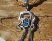 Reiki Jewelry, Sei Hei Ki, Reiki Symbol Pendant, Blue Topaz, Healing Jewelry, Reiki Master, Reiki Gift, Reiki Attunement, Reiki Healing