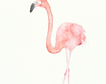 Flamingo Fine Art Print from Original Watercolor Painting