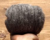 Charcoal Grey Needle Felting Wool, Wool Batting, Batts, Wet Felting, Spinning, Dyed Felting Wool, Gray, Dark Gray, Fiber Art Supplies