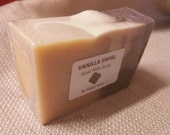 VANILLA Swirl-goat milk soap-bath/shower bar