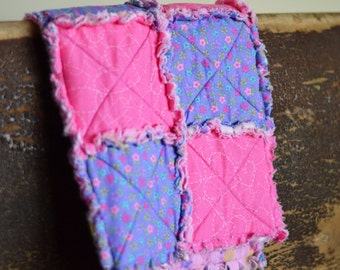 Baby Rag quilted lovie-FREE SHIPPING