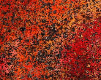 Copper Patina sheet, Wildfire, 36 gauge, copper veneer, colored copper, patina sheet, copper inlay, red copper