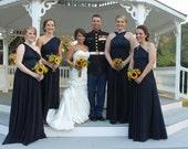 Bridesmaid Dress, Long Short Convertible Bridesmaid Dress, One Dress Endless Styles Black INFINITY Bridesmaids Dress -Custom Made
