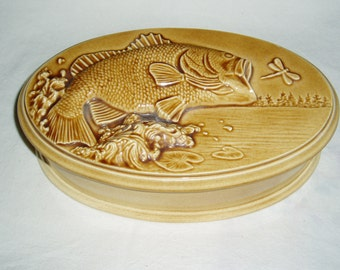 Men's Ceramic Dresser Box, Large-Mouth Bass