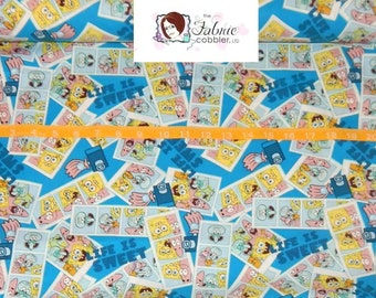 Springs Creative, Sponge Bob Life is Sweet Toss  - By the yard - Choose your cut of fabric