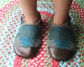 Kids Sippers, Baby Shoes,  School Shoes, Soft Soled Sandals Toddler Slippers Rubber or Leather Soles / Wool, Toddler