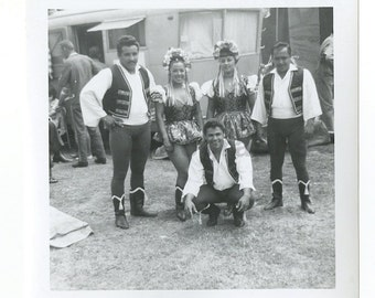 Rudy Brothers Circus - Vintage Snapshot Photograph - Yecal Troupe