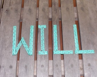 10 Inch Rope Letters or Numbers MADE TO ORDER  Nautical Nursery