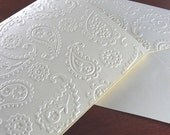 SALE Paisley Cards - 8 Elegant Handmade Cards with Flowers