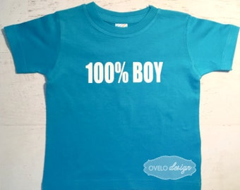 100% BOY T-shirt Pick your Colors
