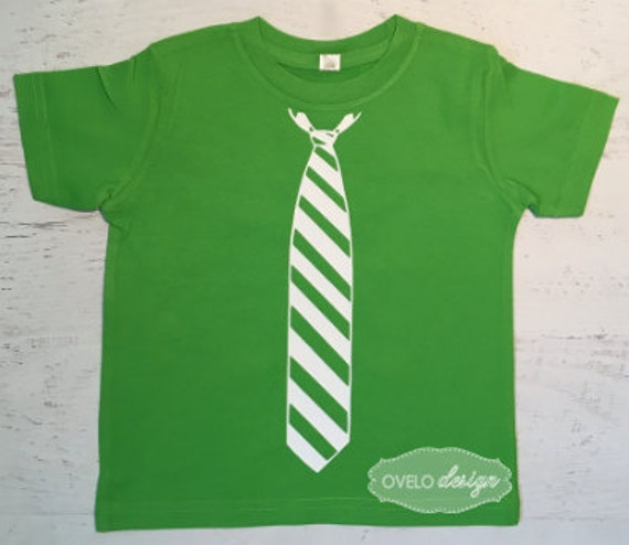 Tie T-Shirt in Apple Green Great for Easter and Spring