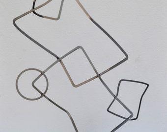 Bent Steel Sculpture, Minimalist Abstract Sculptural Art, Modern Metal Art, Tactile Art