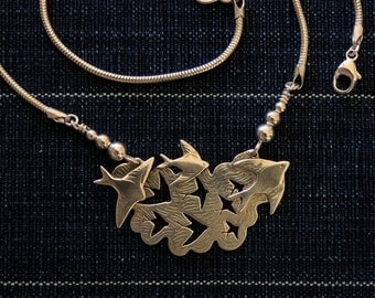 Swallows in the Cloud Necklace