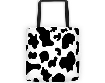 Cow Print Designer Tote Bag