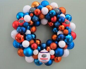 FLORIDA GATORS Wreath UF Florida Football Ornament Wreath