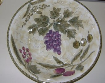 Hand-painted Stone Bowl