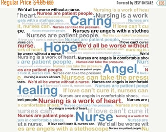 SALE Calling All Nurses, Words, Windham Fabrics, 1/2 Yard
