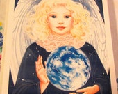 SALE***Vintage Angel Holiday Cards Set of 16 Cards Peace on Earth Cards Non-Denominational Cards Angel of Peace