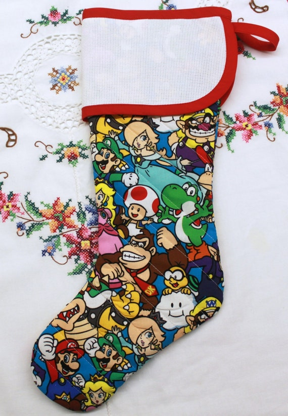 Donkey Kong Stitchable Quilted Cross stitch Christmas Stocking