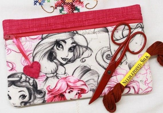 Side Kick Sketched Princesses Bag