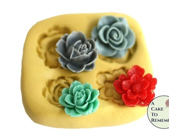 Cake decorating molds for flowers