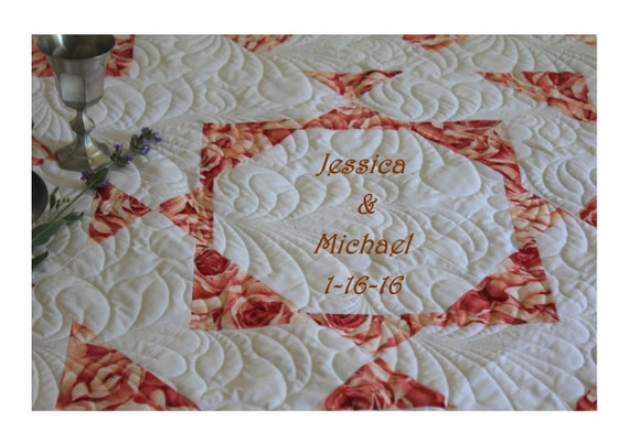 Wedding Quilt. Signature Quilt. Cancer Quilt. Anniversary