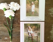 LDS Baptism Photo Card - the Sophie - 25 Printed - 5x5