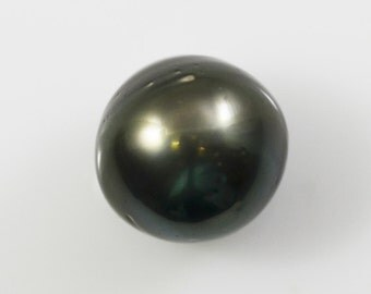 Tahitian Pearl Loose Round/Near Round Black Pearl 14mm