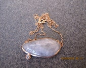 Moonstone Gold Plated Sterling Silver Necklace