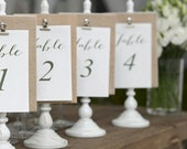 Custom Designed Wedding Reception Table Numbers 1-20 DIY Print-Ready