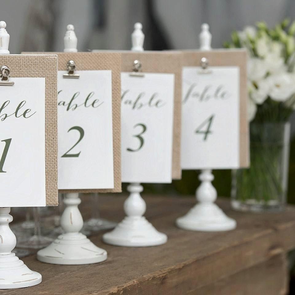 Custom Designed Wedding Reception Table Numbers 1 20 DIY