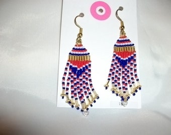 Red White N Blue Earrings