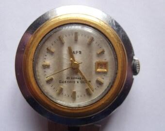 Zaria Zarja Vintage Mechanical Ladies Wrist Watch USSR Goldgilded 30 Jewels