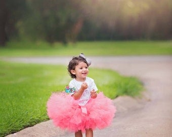 Coral Tutu, Baby Tutu, Newborn Tutu, Tutus for children, Flower Girl tutu, 1st birthday tutus, birthday tutu, mommy and me tutus,
