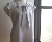 """Sewing Pattern PDF Bow Tie Blouse, Women's Sizes 4-18, Bust 35"""" - 46"""""""
