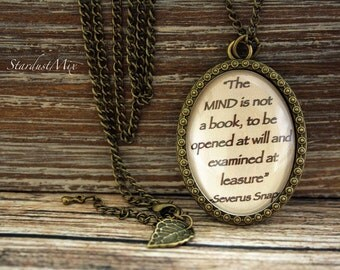 Necklace vintage,retro,antique style,chain,Harry Potter quote,J.K.Rowling,book quote necklace,magic,Harry Potter jewellery,Severus Snape