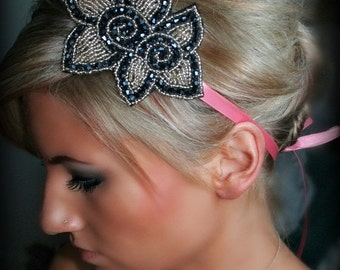 ON SALE Flowers in Bloom Ribbon Headband