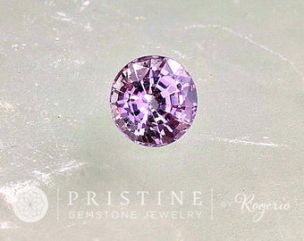 Lavender Spinel 6.8 MM  Round Shape Wholesale Gemstone