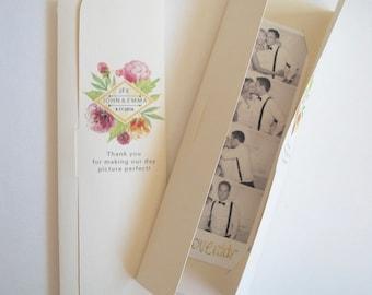 Photobooth  Photo-Strip Party Favor Watercolor Bouquet design