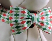 Christmas Collar Set - Dog or Cat with Flower or Bow Tie - Pick Any Fabric in Shop
