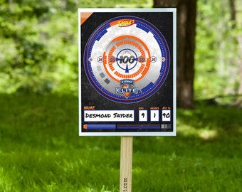 Nerf N-Strike Elite Shooting Target - Party Printable Decorations - INSTANT DOWNLOAD