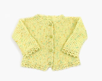Knitted Baby Cardigan, Yellow, 18 - 24 months