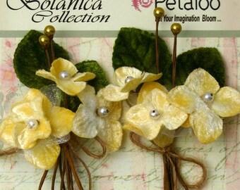 Petaloo Velvet Hydrangea 2 Picks in Ivory