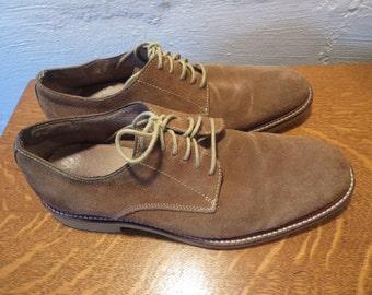 Vintage Men's Suede Oxfords 10 Banana Republic Brown Suede Shoes