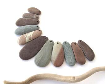 Beach Stone Beads Jewelry Making Mediterranean Pebble Beads Natural Stone Beach Rock River Rock Diy Craft Stones TRIBAL LONGSOMES 30-48 mm.